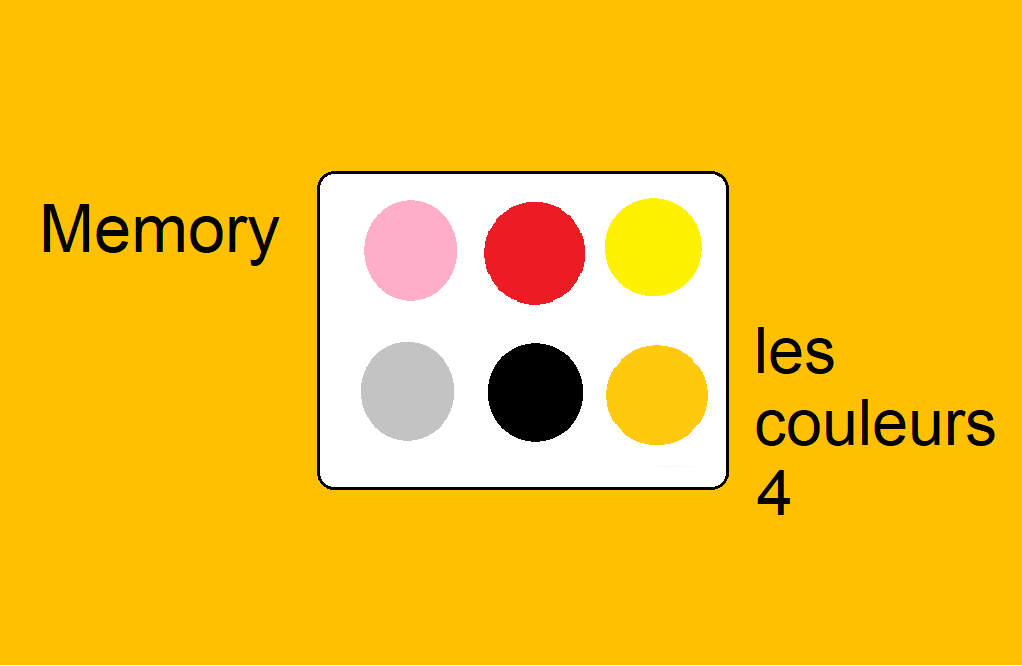 Memory – les couleurs 4