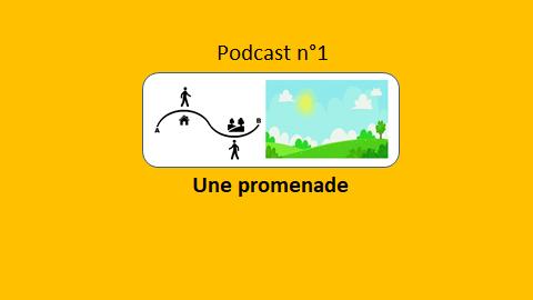 Une promenade – podcast 1 du Français illustré