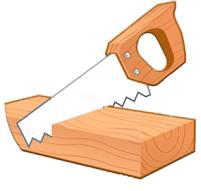 scier du bois