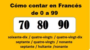 Contar en francés de 0 a 99, un dolor de cabeza necesario