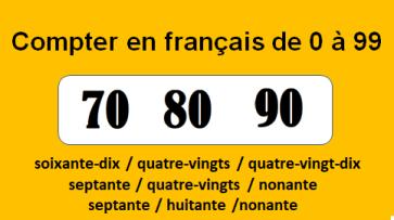 compter en français de 0 à 99