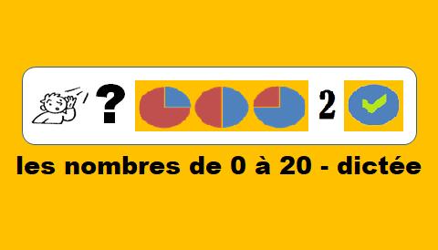 Les nombres de 0 à 20 – dictée