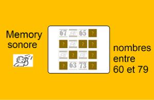 Memory sonore – nombres entre 60 et 79