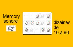 Memory sonore – les dizaines de 10 à 90