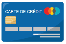 une carte de crédit
