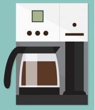 une cafetière électrique