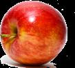 une pomme rouge