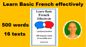 Learn Basic French effectively: a foolproof method