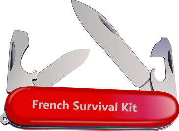 French Survival Kit - knife