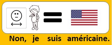 Non, je suis américaine.