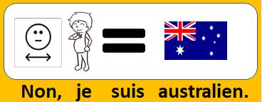 Non, je suis australien.