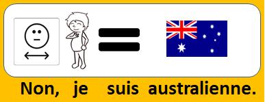 Non, je suis australienne.