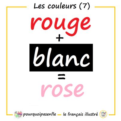 rouge + blanc = rose