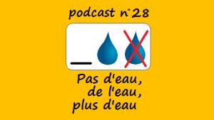 Pas d'eau, de l'eau, plus d'eau – podcast 28 du Français illustré