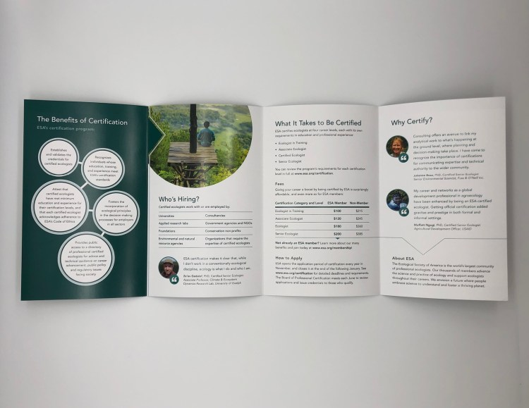ESA brochure inside spread