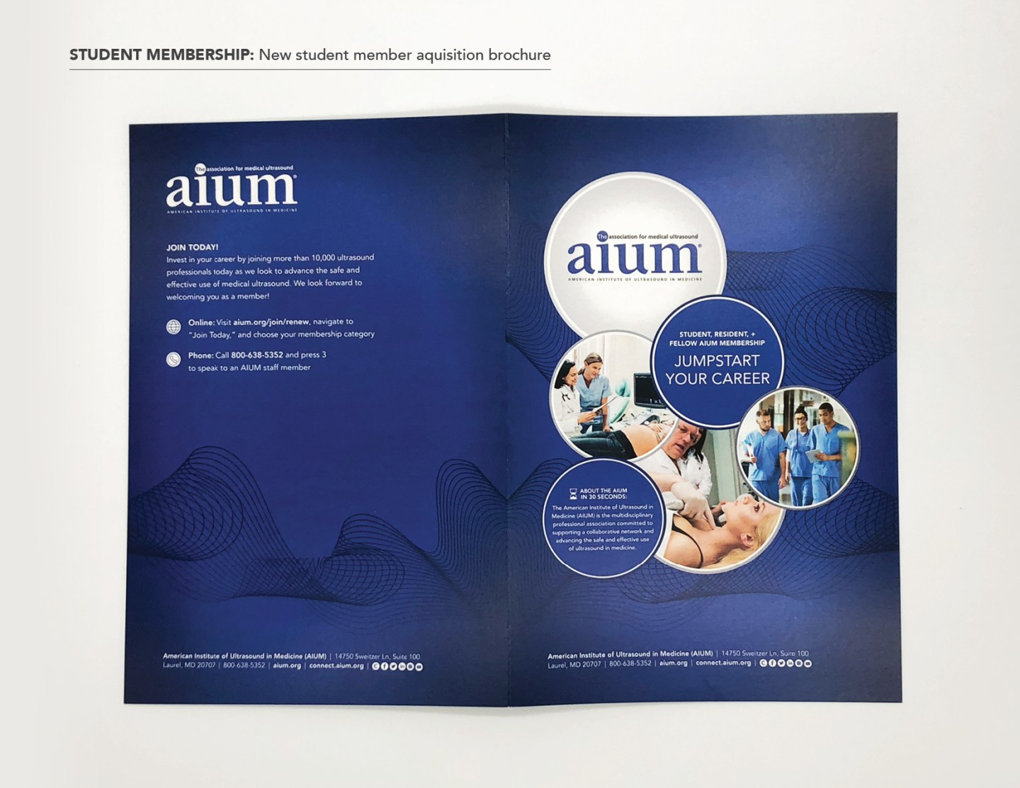 Membership acquisition brochure