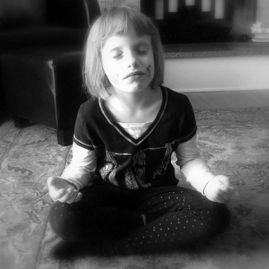 child meditating mindfulness