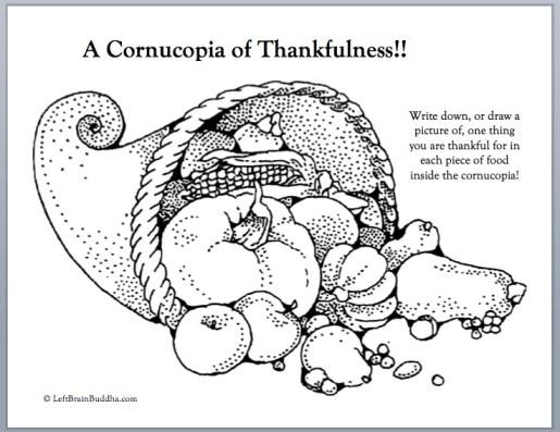 Cornucopia of thankfulness