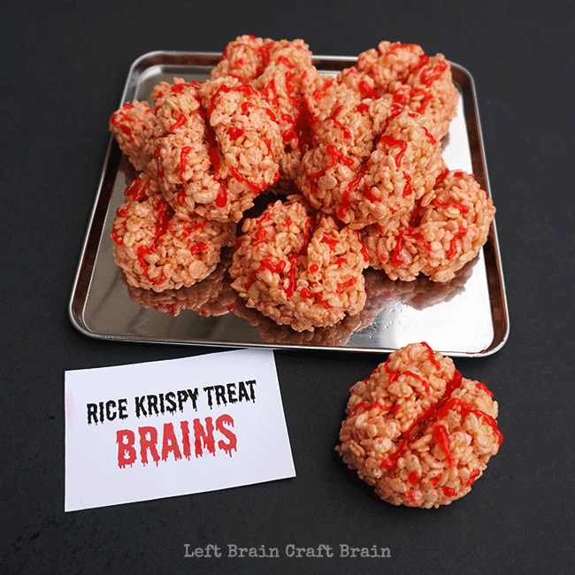 Image result for rice krispie treat brains