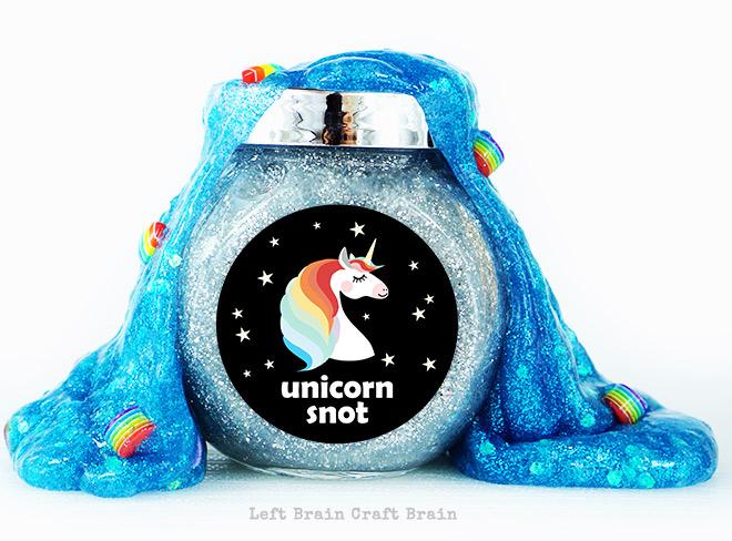 Unicorn Snot Slime Left Brain Craft Brain