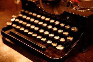 Old school typewriter - photo by Nicole Lee