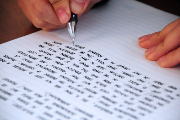 Writing - photo by Jeffrey James Pacres