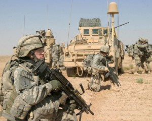 U.S. Army Soldiers conduct a patrol during a training mission near Camp Ramadi, Iraq, Sept. 25, 2007. - photo by Sgt. Andrew D. Pendracki