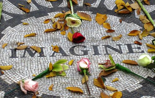 John Lennon Memorial - photo by Robert Hoge