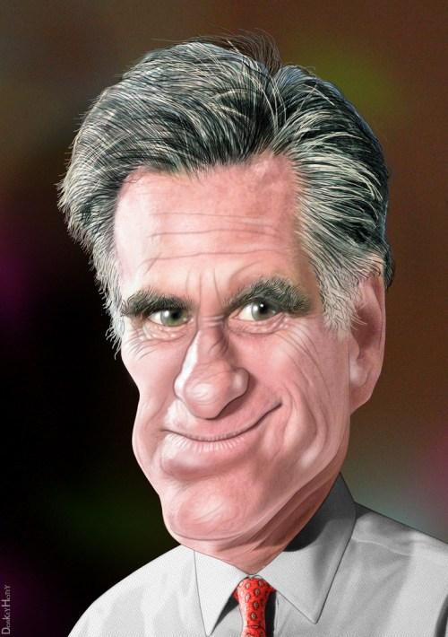 Mitt Romney - Caricature - by DonkeyHotey