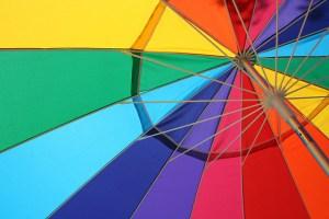 Rainbow umbrella - photo by slyvar