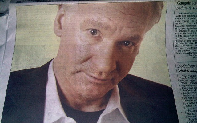 Bill Maher - photo by joykennelly