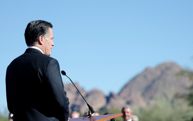 Mitt Romney - photo by Brett Beanan