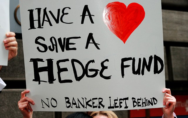 the Great Hedge Fund Hei$t - photo by A. Golden