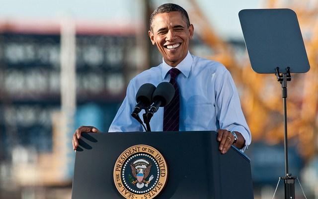 President Obama - photo by Nick Knupffer