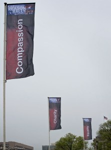 3 of the many banners around the Mall describing what the movement is about
