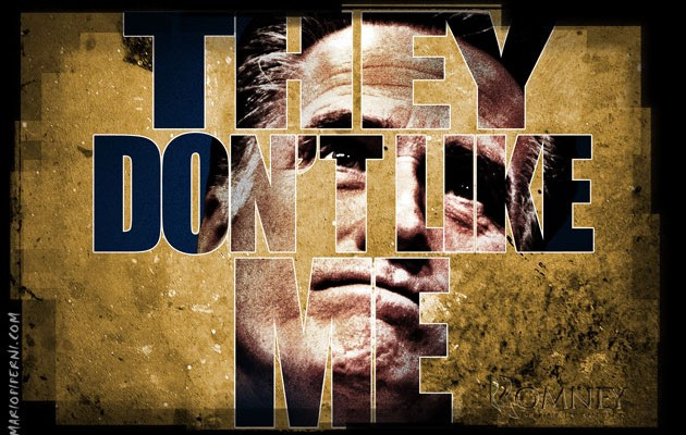 Mitt Romney - They Don't Like Me - image by Mario Piperni