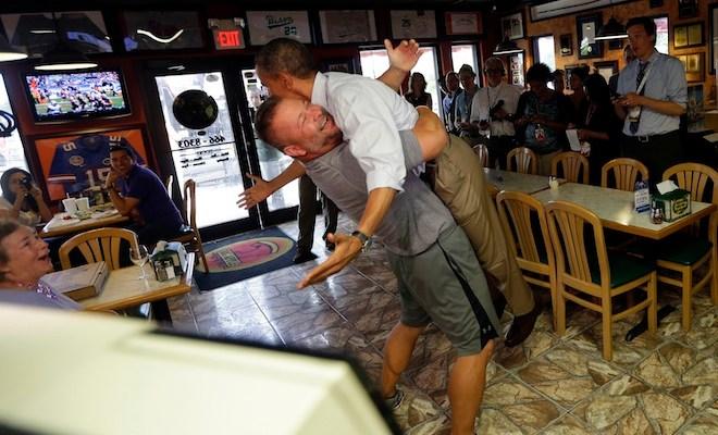 Barack Obama, Scott Van Duzer - pizza shop owner