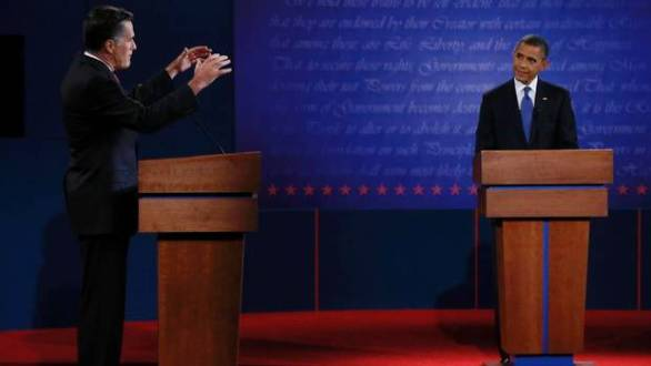 First 2012 Presidential Debate - MItt Romney and Barack Obama- JIM BOURG/REUTERS