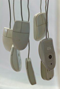 Hanging mice - computer mouse - photo by Jim Mead