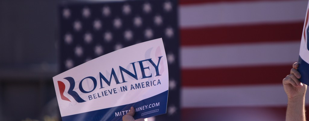 Mitt Romney sign - photo by Gage Skidmore