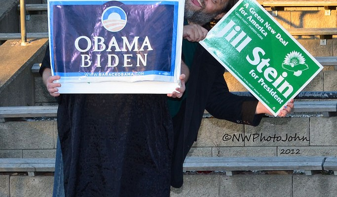 Obama or Stein? - photo by Kevyn Jacobs