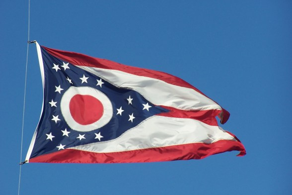 Ohio State Flag - photo by J. Stephen Conn
