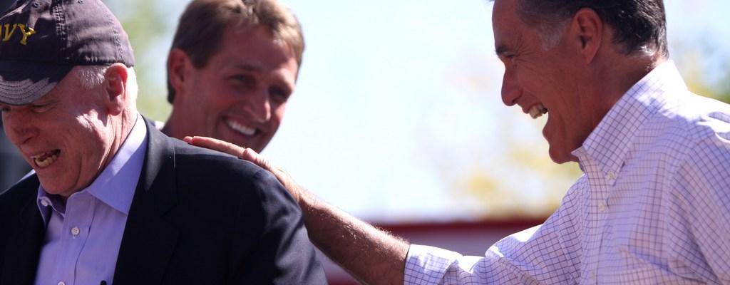 John McCain and Mitt Romney - photo by Gage Skidmore