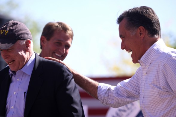 John McCain and Mitt Romney - photo by Gage Skidmore