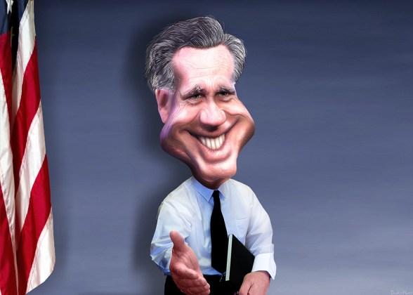 Mitt Romney - Caricature - image by DonkeyHotey