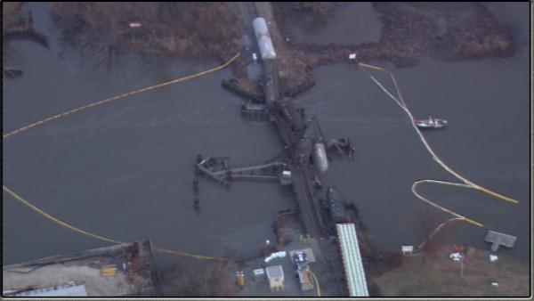 Chopper 6 HD was over the scene of a train wreck in Paulsboro, New Jersey on Friday, November 30th. - 6ABC, Philadelphia