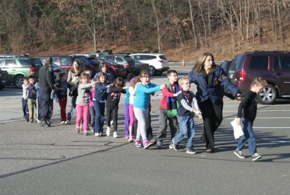 Connecticut school shooting - photo by Shannon Hicks of The Newtown Bee