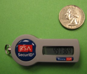 RSA Securid Token - Key Chain Fob Style - photo by Purple Slog