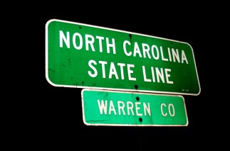 North Carolina - state line - photo by Taber Andrew Bain