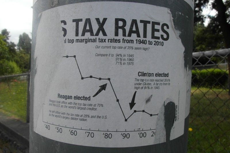 US Tax Rates (Taxes on riches/wealth) - photo by mSeattle